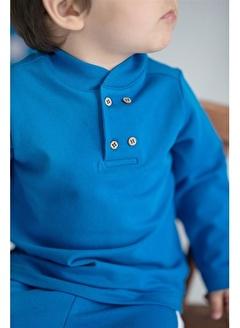 Nila Kids Blue Blossom Organik Erkek Bebek Sweatshirt